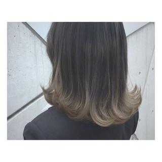 透明感 アッシュ グラデーションカラー 外国人風カラー ヘアスタイルや髪型の写真・画像