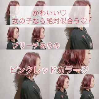 切りっぱなしボブ 外国人風カラー ミニボブ 韓国ヘア ヘアスタイルや髪型の写真・画像