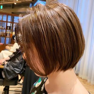 大人かわいい デート ナチュラル ショートボブ ヘアスタイルや髪型の写真・画像