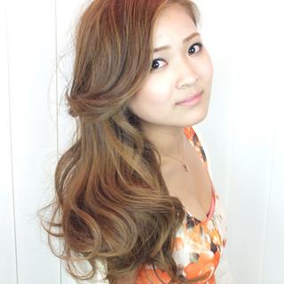 ロング ゆるふわ 外国人風 グラデーションカラー ヘアスタイルや髪型の写真・画像