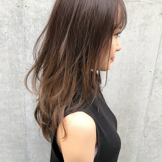 大人ミディアム デジタルパーマ ミディアムレイヤー レイヤーロングヘア ヘアスタイルや髪型の写真・画像