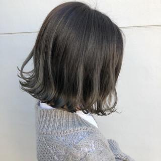 フェミニン グラデーションカラー ボブ ハイライト ヘアスタイルや髪型の写真・画像