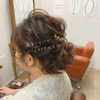 オフィス ゆるふわ 結婚式 ボブ ヘアスタイルや髪型の写真・画像