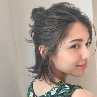 アウトドア ヘアアレンジ スポーツ ガーリー ヘアスタイルや髪型の写真・画像