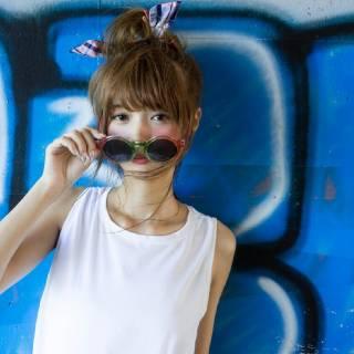 ストリート ヘアバンド ヘアピン ヘアスタイルや髪型の写真・画像