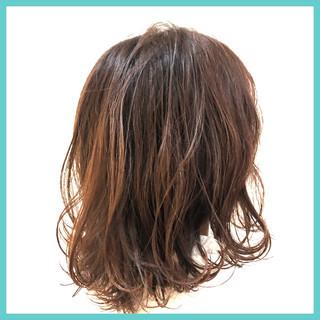 ショコラブラウン ガーリー 大人ミディアム ミディアム ヘアスタイルや髪型の写真・画像