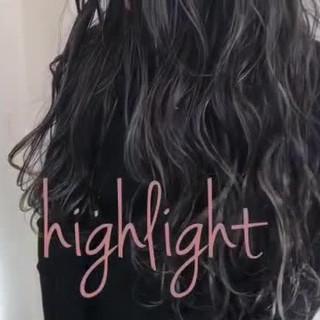 外国人風カラー 外国人風 ハイライト グレージュ ヘアスタイルや髪型の写真・画像