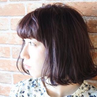 パープル 色気 ストリート アッシュ ヘアスタイルや髪型の写真・画像