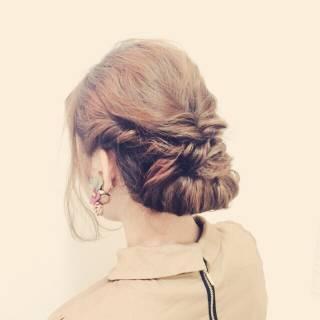 コンサバ まとめ髪 ヘアアレンジ 大人かわいい ヘアスタイルや髪型の写真・画像