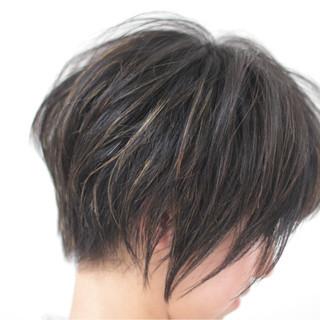 ショートボブ 小顔 ボブ 抜け感 ヘアスタイルや髪型の写真・画像