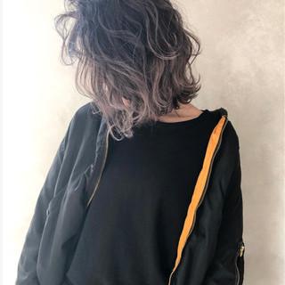 外国人風 外国人風カラー ハイライト ボブ ヘアスタイルや髪型の写真・画像