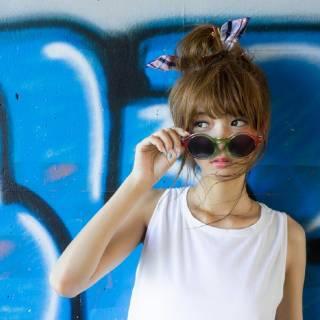 お団子 ストリート ヘアバンド ヘアピン ヘアスタイルや髪型の写真・画像