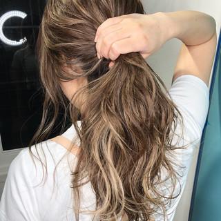 外国人風カラー ナチュラル 3Dハイライト ハイライト ヘアスタイルや髪型の写真・画像