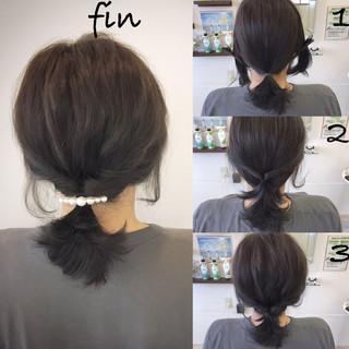 ナチュラル 女子会 簡単ヘアアレンジ デート ヘアスタイルや髪型の写真・画像