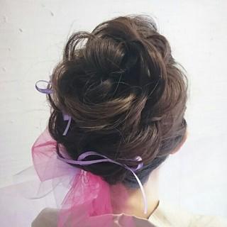 和装 着物 ヘアアレンジ 夜会巻 ヘアスタイルや髪型の写真・画像