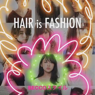 ミディアム ヘアアレンジ モード ウェーブ ヘアスタイルや髪型の写真・画像