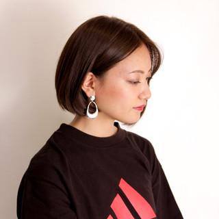 ミニボブ ショートヘア アッシュベージュ アッシュ ヘアスタイルや髪型の写真・画像