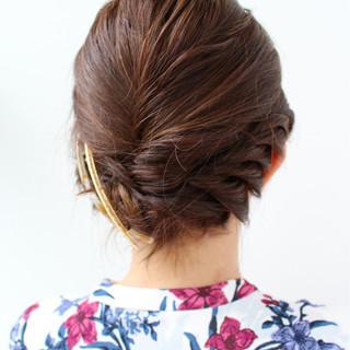 ヘアアレンジ ボブ 結婚式 エレガント ヘアスタイルや髪型の写真・画像