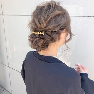 ロング オフィス ヘアアレンジ 簡単ヘアアレンジ ヘアスタイルや髪型の写真・画像