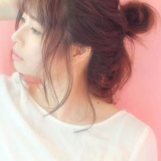 ヘアアレンジ ロング 簡単ヘアアレンジ ゆるふわ ヘアスタイルや髪型の写真・画像