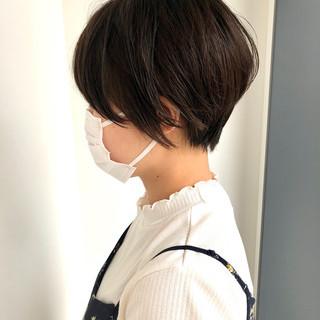 ショートボブ ミニボブ ナチュラル ベリーショート ヘアスタイルや髪型の写真・画像