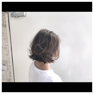 ハイライト おフェロ 抜け感 ボブ ヘアスタイルや髪型の写真・画像