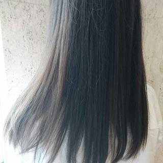 大人かわいい アッシュ ロング パーマ ヘアスタイルや髪型の写真・画像
