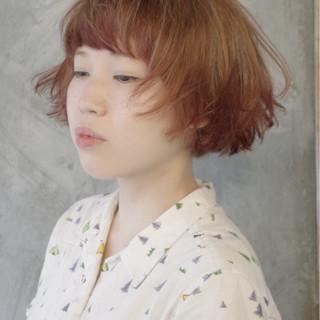 ガーリー 外国人風 ショート パーマ ヘアスタイルや髪型の写真・画像