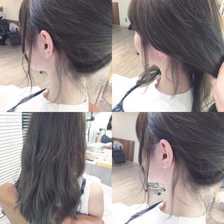 ロング アップスタイル 後れ毛 春 ヘアスタイルや髪型の写真・画像