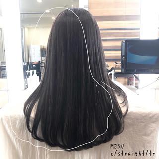 グレージュ ナチュラル 髪質改善 前髪 ヘアスタイルや髪型の写真・画像