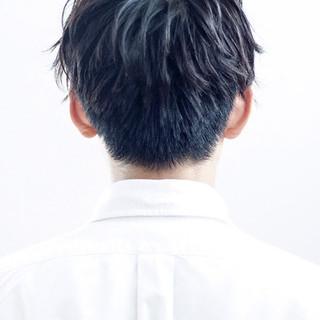 メンズ 刈り上げ ショート 黒髪 ヘアスタイルや髪型の写真・画像