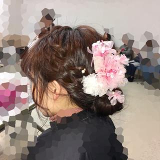 成人式 フェミニン アップスタイル ヘアアレンジ ヘアスタイルや髪型の写真・画像