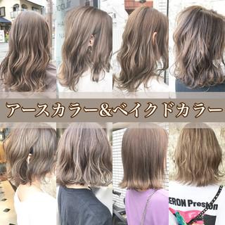 ミルクティーアッシュ ナチュラル ミルクティーベージュ ミルクティーグレージュ ヘアスタイルや髪型の写真・画像