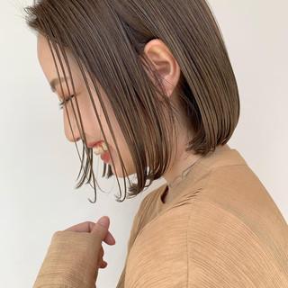 ナチュラル まとまるボブ 透明感カラー ボブ ヘアスタイルや髪型の写真・画像
