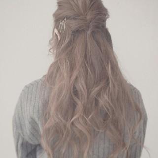 くるりんぱ ヘアピン ゆるふわ ヘアアレンジ ヘアスタイルや髪型の写真・画像