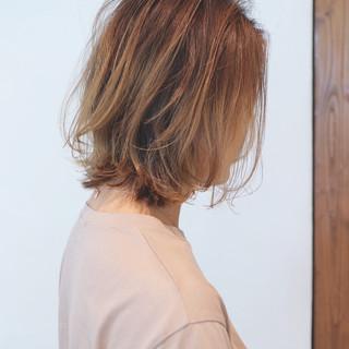 グラデーションカラー アウトドア ボブ スポーツ ヘアスタイルや髪型の写真・画像