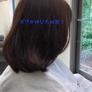 簡単スタイリング フェミニン ひし形シルエット ボブ ヘアスタイルや髪型の写真・画像