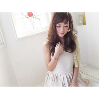 ガーリー フェミニン 大人かわいい アッシュ ヘアスタイルや髪型の写真・画像