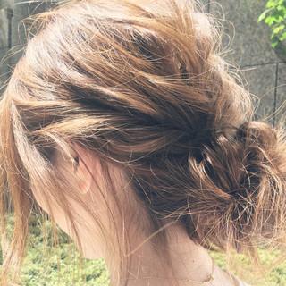 ショート セミロング ナチュラル パーティ ヘアスタイルや髪型の写真・画像