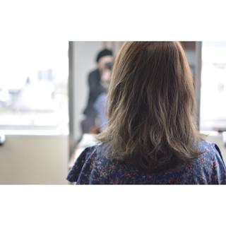 透明感 グラデーションカラー ミディアム 外国人風カラー ヘアスタイルや髪型の写真・画像