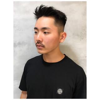 黒髪 ストリート ショート メンズカット ヘアスタイルや髪型の写真・画像