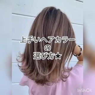 バックコーミング インナーカラー グラデーションカラー バレイヤージュ ヘアスタイルや髪型の写真・画像