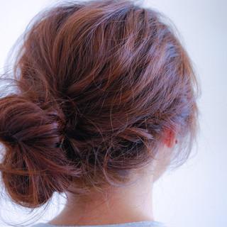ヘアアレンジ ゆるふわ ナチュラル フェミニン ヘアスタイルや髪型の写真・画像
