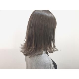 ウェットヘア ハイライト ボブ ナチュラル ヘアスタイルや髪型の写真・画像