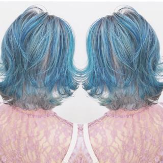 ハイライト リラックス 色気 ボブ ヘアスタイルや髪型の写真・画像