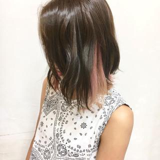 アッシュ イルミナカラー ストリート カラーバター ヘアスタイルや髪型の写真・画像