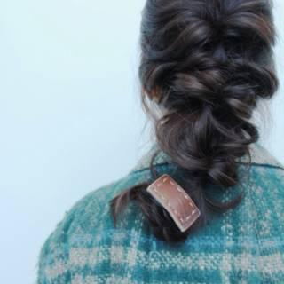 ヘアアレンジ 三つ編み 大人かわいい 愛され ヘアスタイルや髪型の写真・画像