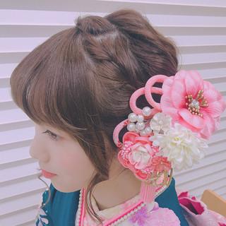 振袖 ヘアアレンジ アップスタイル 成人式 ヘアスタイルや髪型の写真・画像