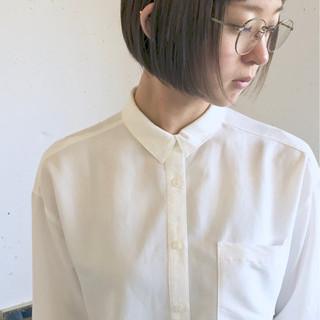 秋 グレージュ 切りっぱなし 透明感 ヘアスタイルや髪型の写真・画像