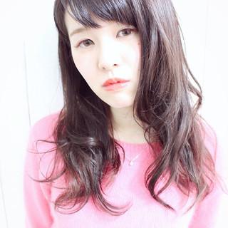 ゆるふわ ロング ラベンダーピンク ピンク ヘアスタイルや髪型の写真・画像